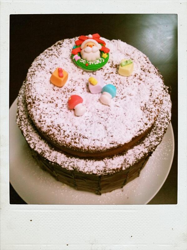 2歳の聖夜のまるちケーキ